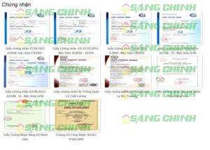 Giấy chứng nhận chất lượng thép Việt Nhật