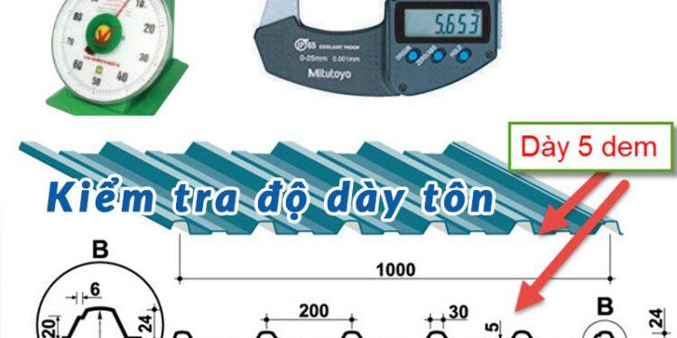 Độ dày tôn là thông số chỉ độ dày tấm tôn